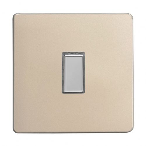Varilight JDNES001S Screwless Satin Chrome 1 Gang Touch Dimming Slave (use with V-Pro Master)